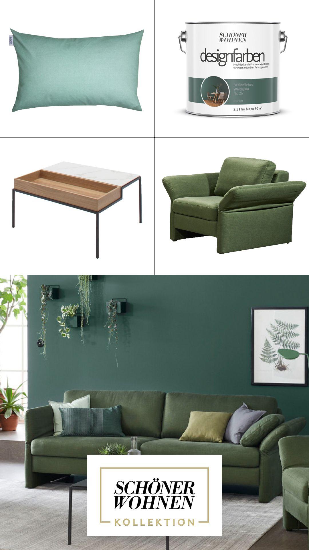 Schoner Wohnen Kollektion Trendfarbe Grun Fur Das Ganze Zuhause Schoner Wohnen Wandfarbe Schoner Wohnen Schoner Wohnen Farbe