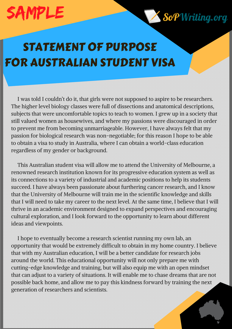 Visa Statement Of Purpose 2019 Preparation Differences