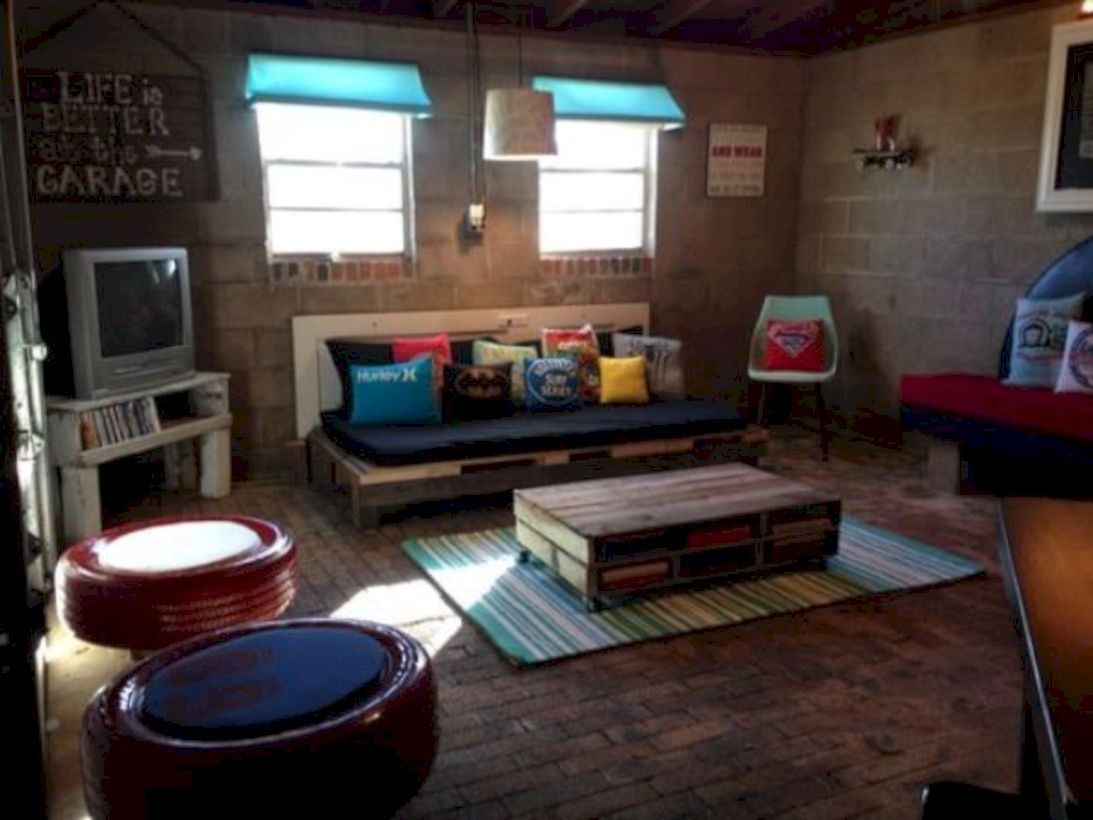 50 Relaxing Basement Rec Room Ideas For Living Area images