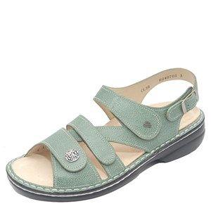 Finn Comfort Gomera Leather Soft Footbed Mint Sandals Mint Sandals Finn Comfort Leather