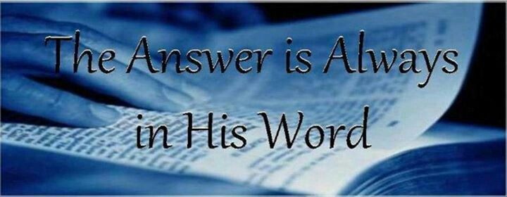 The Answer is in God's Word