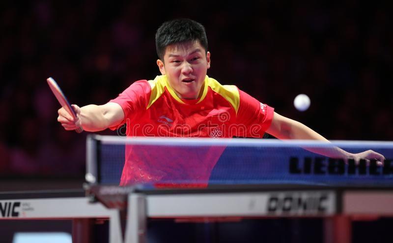 Fan Zhendong Backhand Top Spin Men S Singles Finals Gold Medal Match Fan Z Sponsored Finals Singles Gold Ma Spinning Top Paris Images Spinning