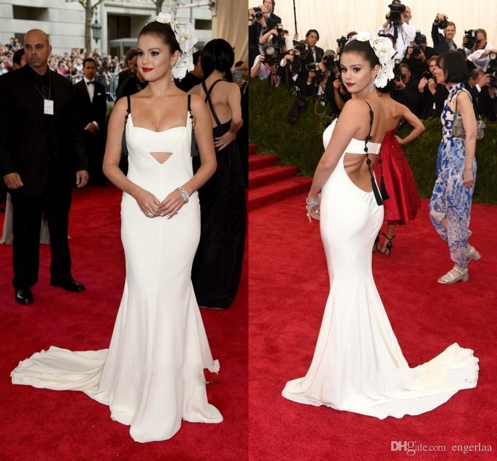 met gala selena gomez evening dresses for red carpet white