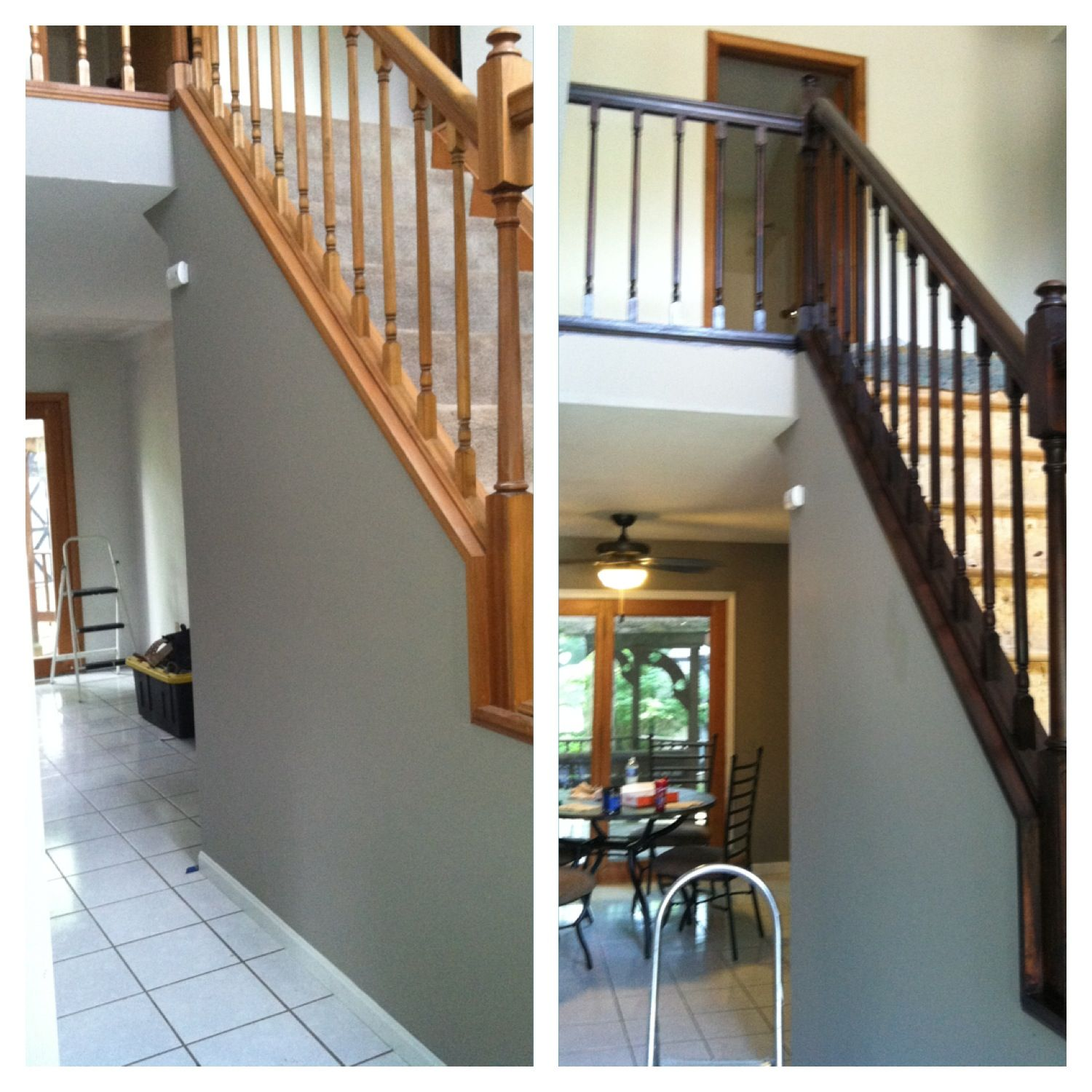 Gel Stain General Finishes color Java! Loving it!!! | Paint colors for living room, Staircase ...