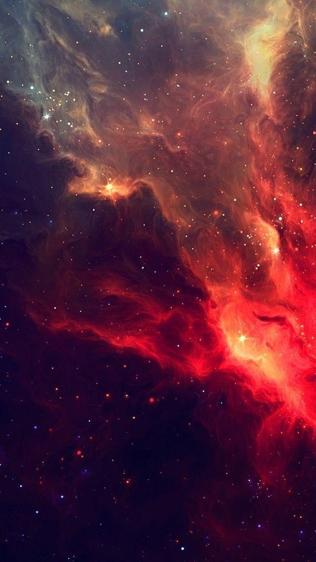 Red Galaxy Nebula Iphone Wallpaper Wallpaper Space Iphone 5s Wallpaper Galaxy Wallpaper
