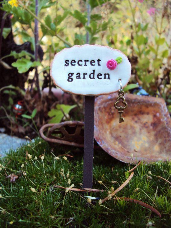 secret garden signs, fairy garden miniature sign secret garden, miniature sign, miniature, Design ideen
