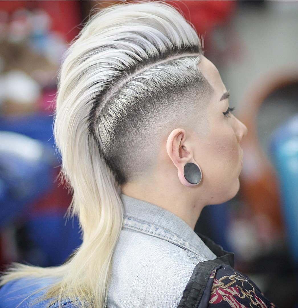 most gorgeous mohawk hairstyles of nowadays in side shaved