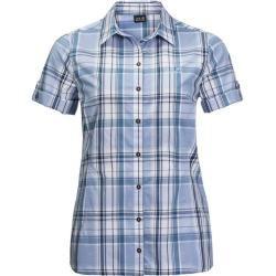 Jack Wolfskin Damen Bluse Maroni River Shirt W, Größe Xxl in shirt blue checks, Größe Xxl in shirt b