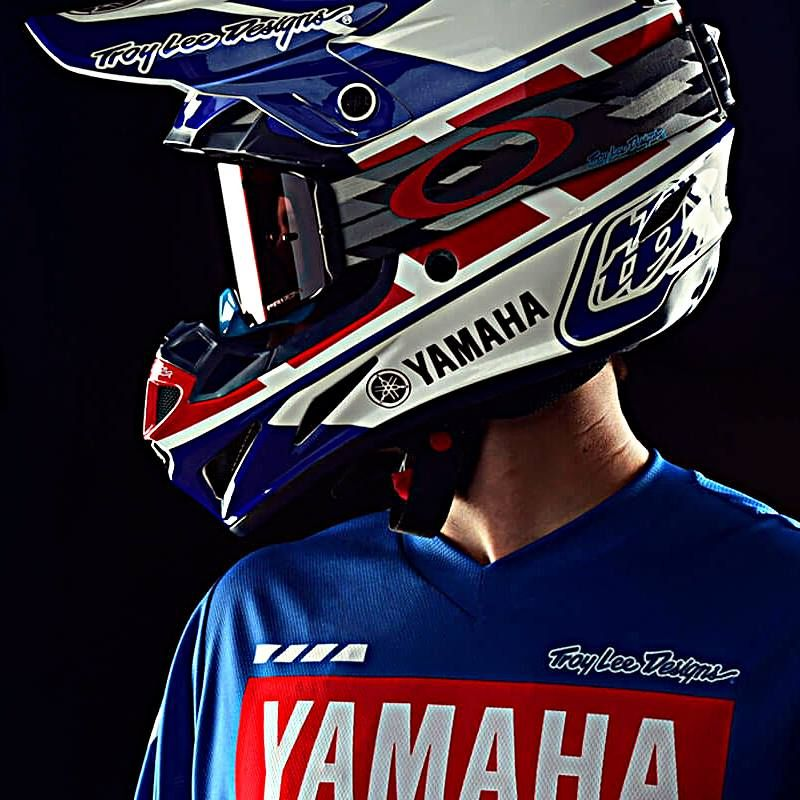 Blue Troy Lee Designs 2019 GP Mens Jersey Yamaha RS1