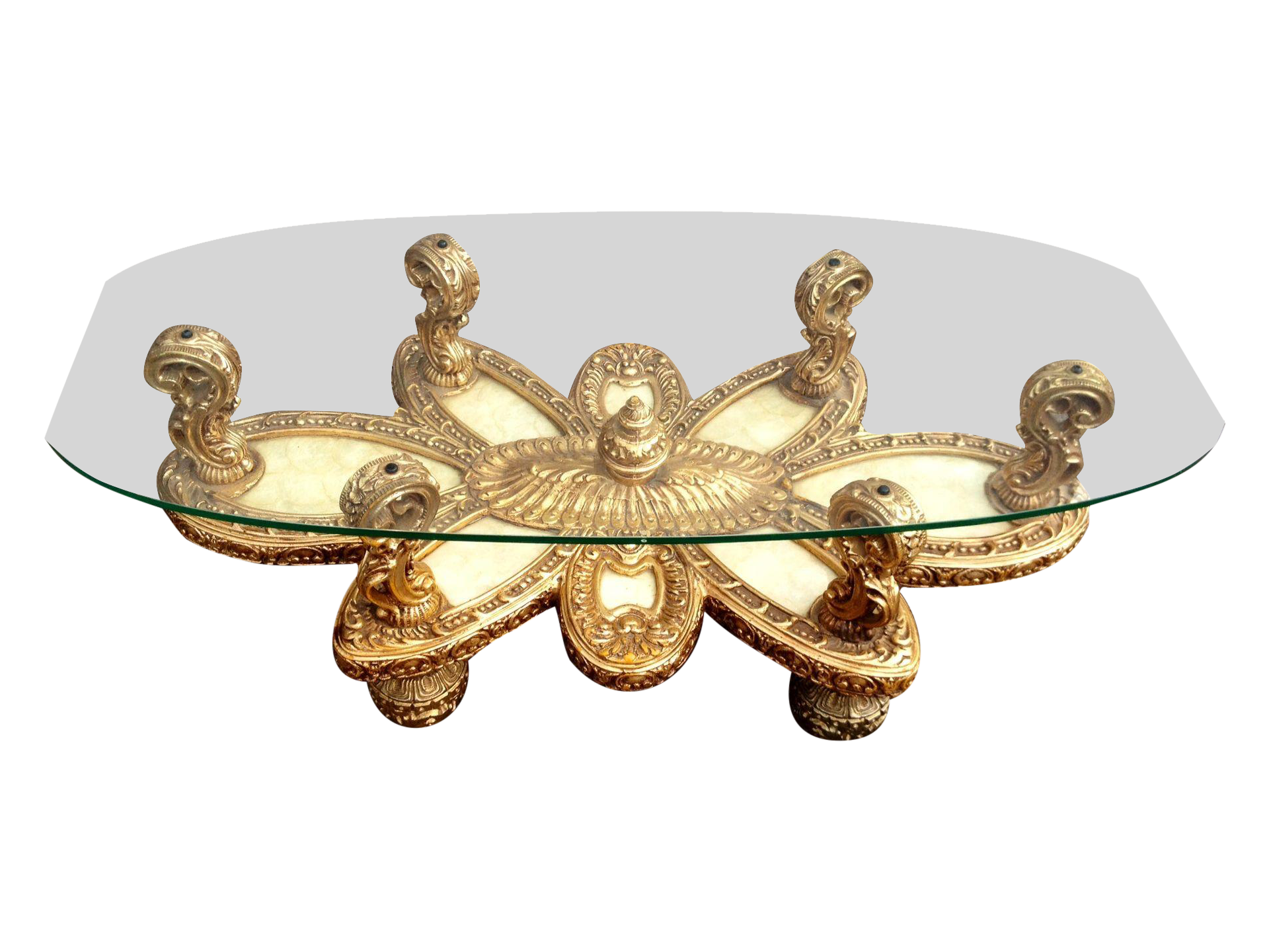 Ornate italian baroque coffee table w shell inlay on chairish ornate italian baroque coffee table w shell inlay on chairish geotapseo Image collections
