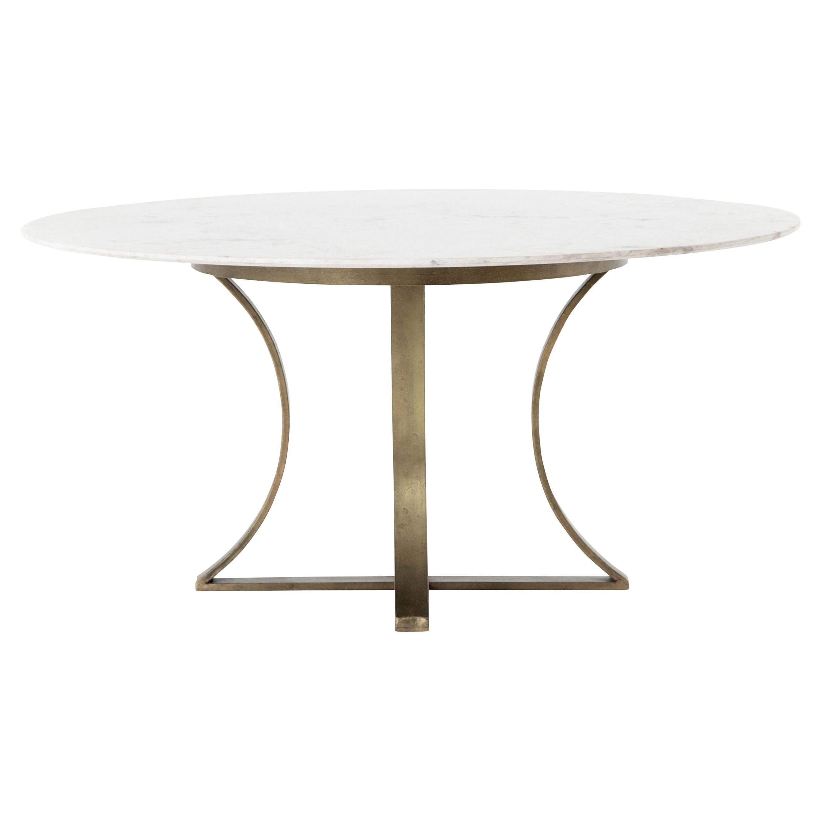 Drake Modern Regency White Marble Brass Round Dining Table Dining Table Round Dining Table Round Dining [ 2610 x 2610 Pixel ]