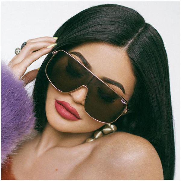 de2fbd886e Quay Eyewear x Kylie Jenner Unbothered Sunglasses ( 65) ❤ liked on Polyvore  featuring accessories