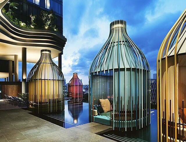 Park royal woha architects bird cage hotel hotel - Park royal pickering swimming pool ...