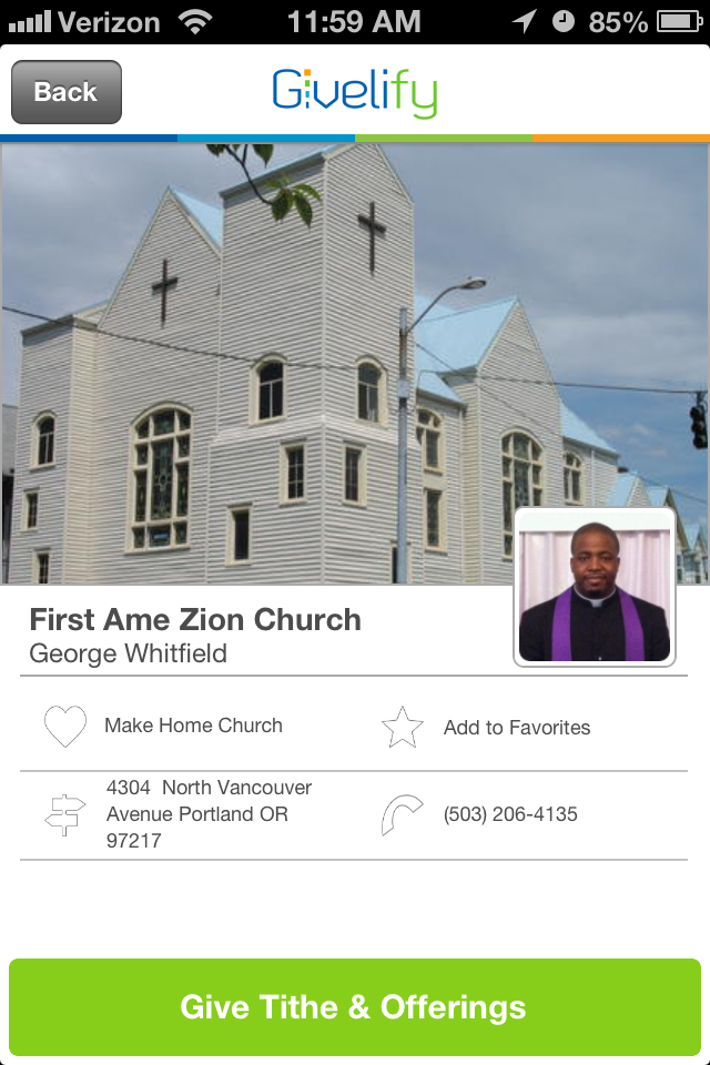 First AME Zion Church in Portland, Oregon #GivelifyChurches
