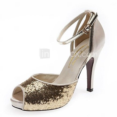 Wedding Shoes For Women Heels Sandals Dress Office Career Black Silver Gold