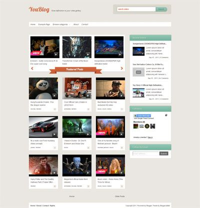 Youblog Free Simple Blogger Video Template