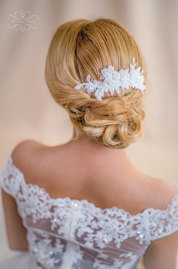 Braut Haarschmuck aus Spitze für eine romantische Hochzeit ...