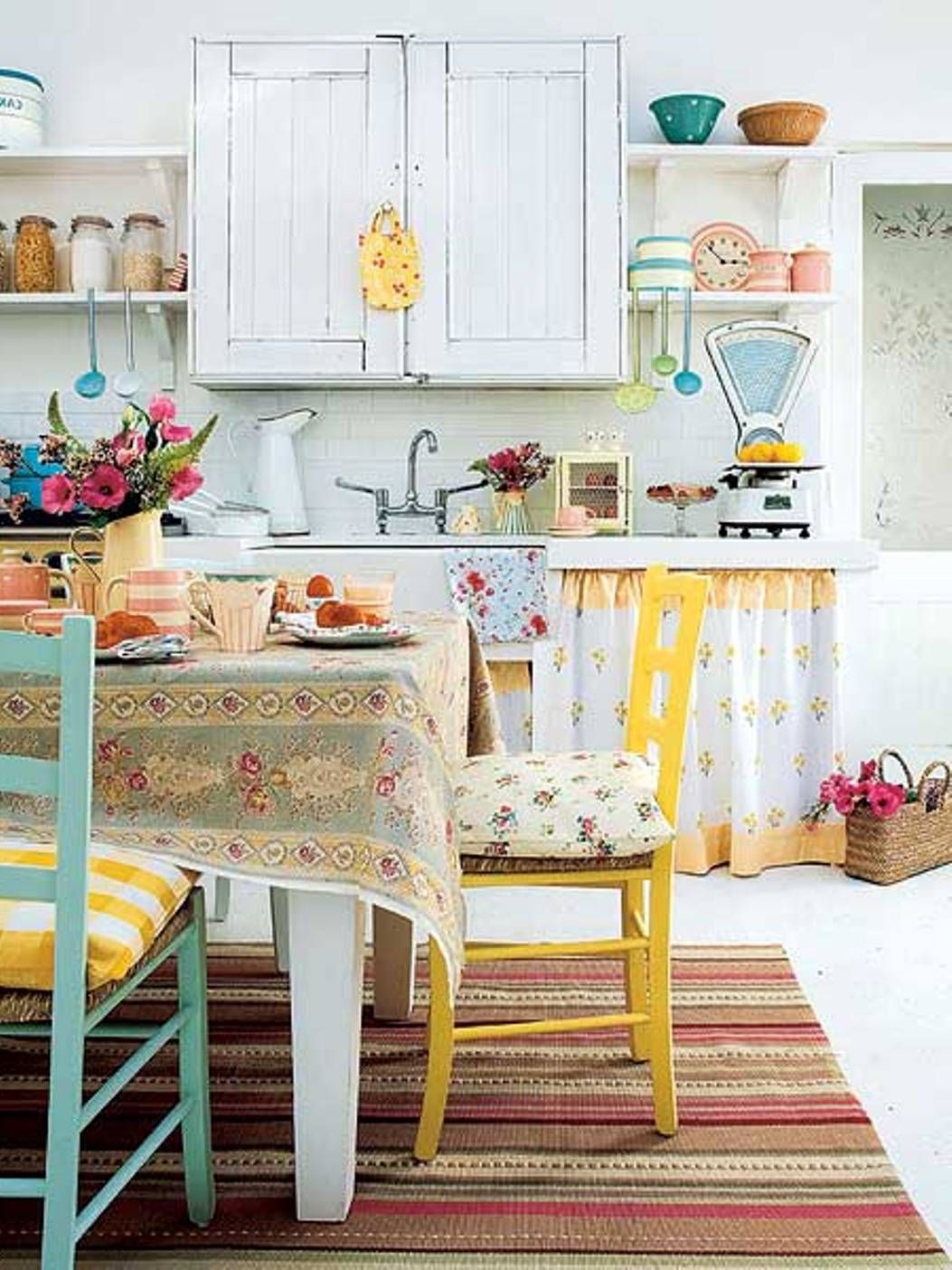 Ideas for kitchen decor  Shabby Chic Kitchen Decorating Ideas  Shabby Kitchens and Country