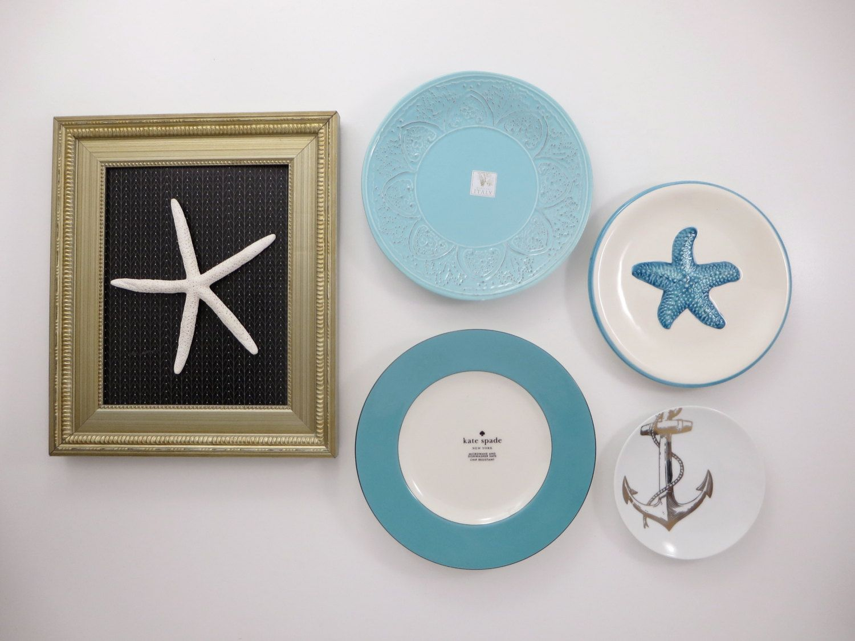 CUSTOM RESERVED Decorative Plates - Kitchen Wall Decor - Coastal ...