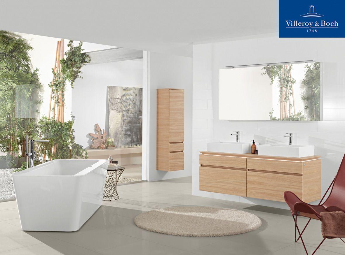 Bad von Villeroy Boch - mit viel Licht und Grün - wir gestalten auch ...