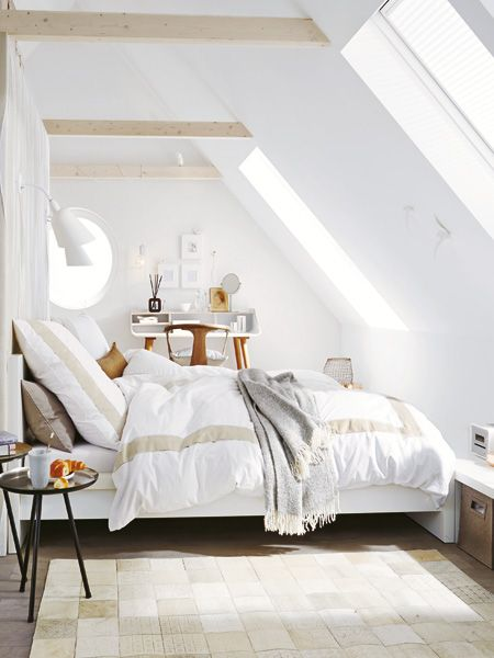 Unterm Dach Schlafzimmer mit Schrägen einrichten Gemütliches - schlafzimmer einrichten dachgeschoss