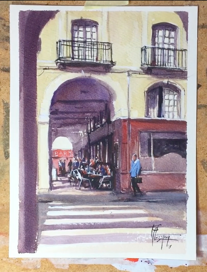 Watercolor Streetscape Demonstration Video
