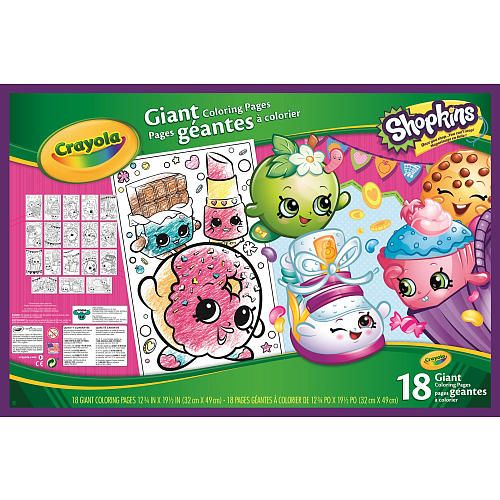 Kids Can Color Their Favorite Shopkins Characters In A Big Way Crayola Giant Coloring Pages Features 18 Page Fun Scenes Of