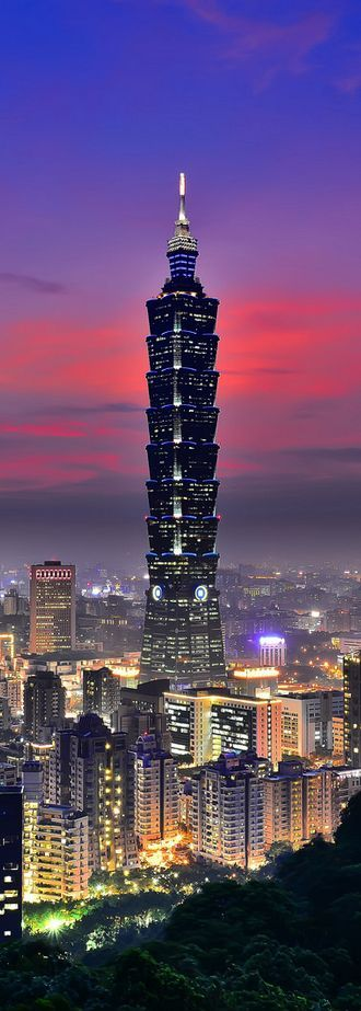 Taipei 101, formerly known as the Taipei World Financial Center, is a landmark skyscraper located in Xinyi District, Taipei, Taiwan. The building ranked officially as the world's tallest from 2004 until the opening of the Burj Khalifa in Dubai in 2010.  DISCOVER. ENJOY. EXPERIENCE.  TAIPEI, TAIWAN!!
