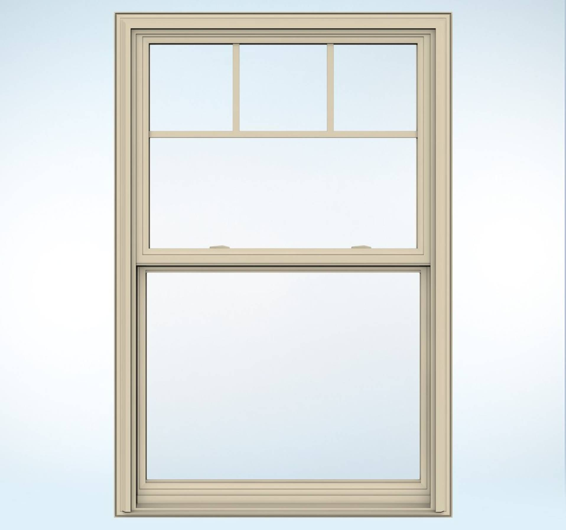 Vinyl window casing - Almond Trimmed Window With Craftsman Details Builders Vinyl V 2500 Jeld