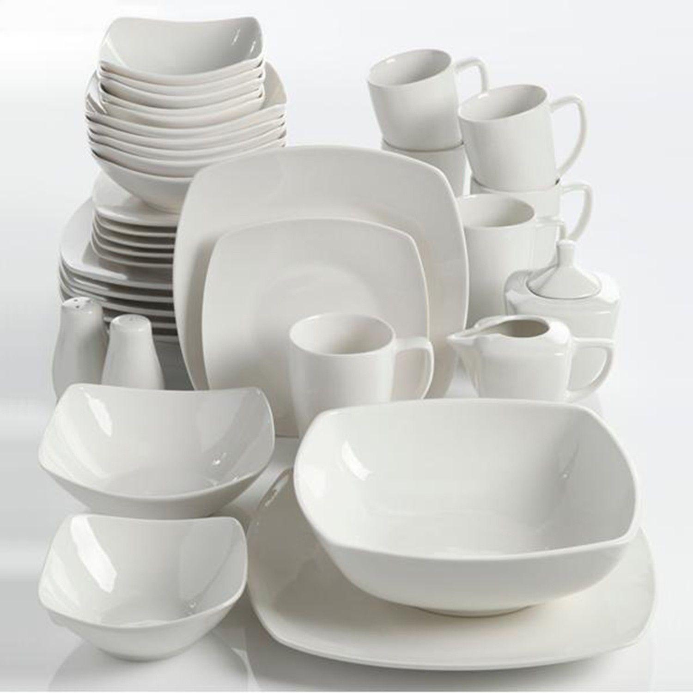 Gibson Home 16 Piece Zen Buffetware Dinnerware Set, White ...