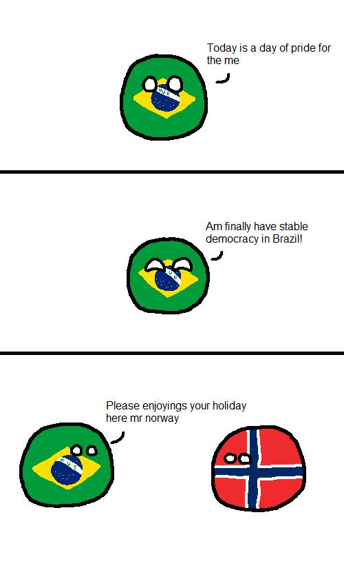 Polandball Map Of Brasil Polandball