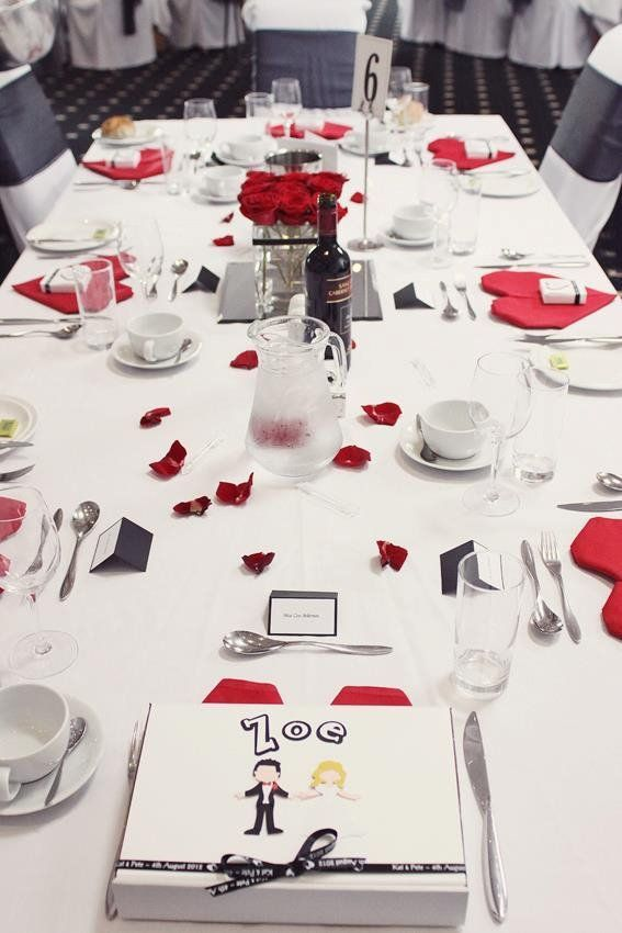 Wedding Tables With Childrens Favour Box