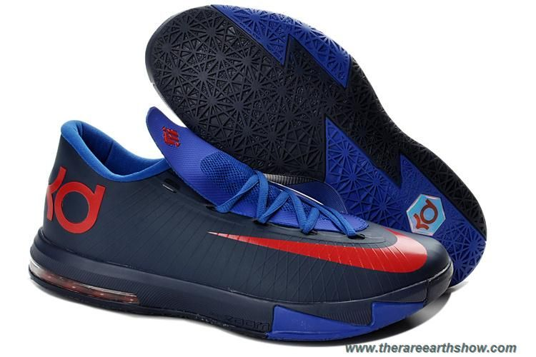 Cheap 599424-800 Nike Zoom KD 6 Navy Royal Blue Red