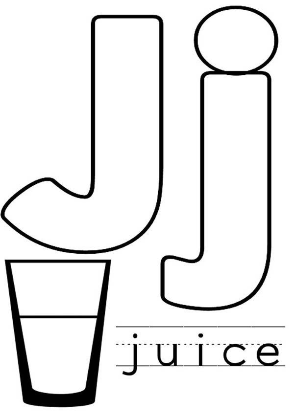 Letter J Is For Juice Coloring Page Letter J Crafts Letter J