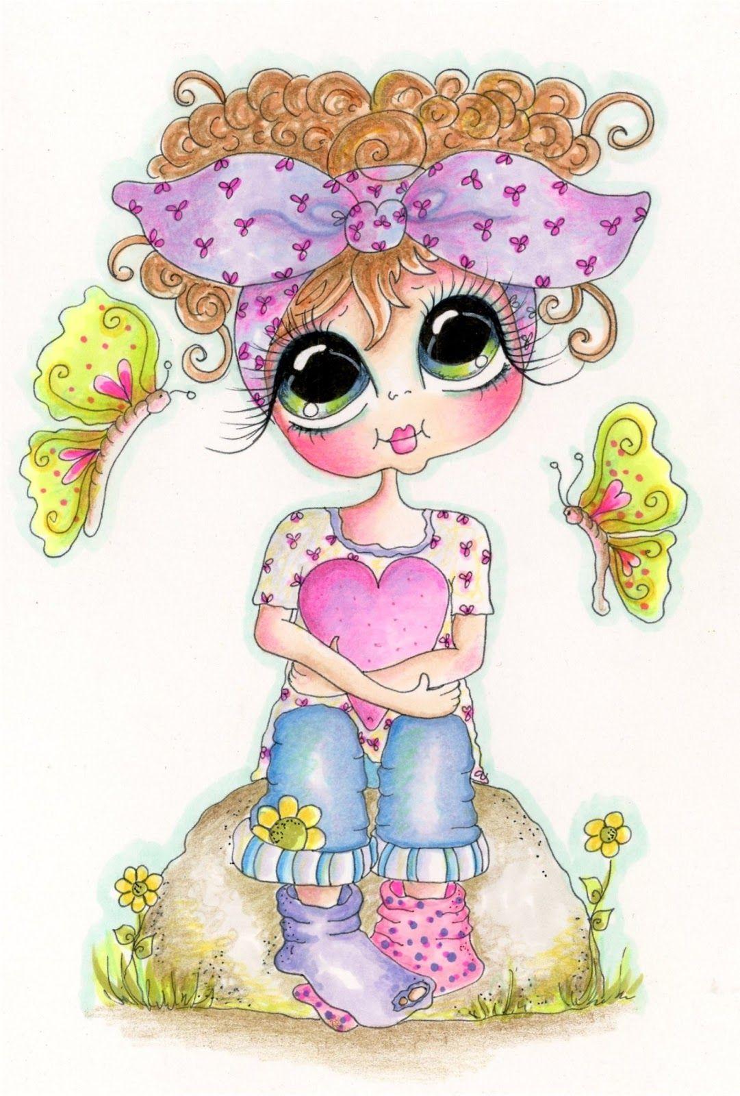 Img892 Sherri Baldy Butterfly Bestie 1 2 Jpg Jpeg Grafik 1081 1600 Pixel Grote Ogen Digitale Stempels Schattige Kunst