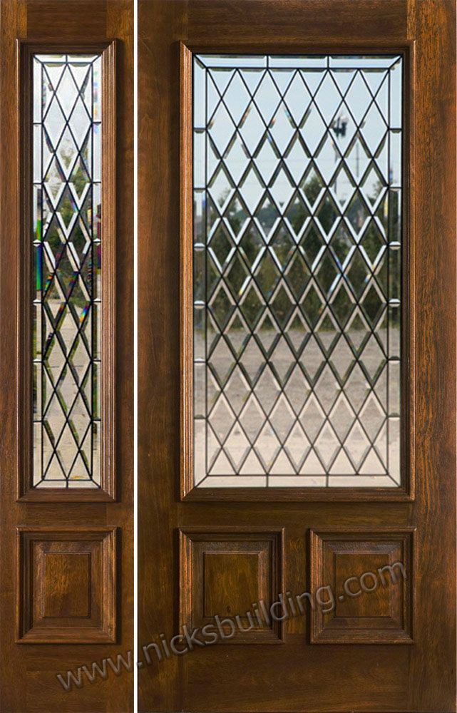 Exterior Entry Doors With 1 Sidelight Solid Mahogany Entry Doors Solid Wood Entry Doors Wood Entry Doors Custom Front Doors