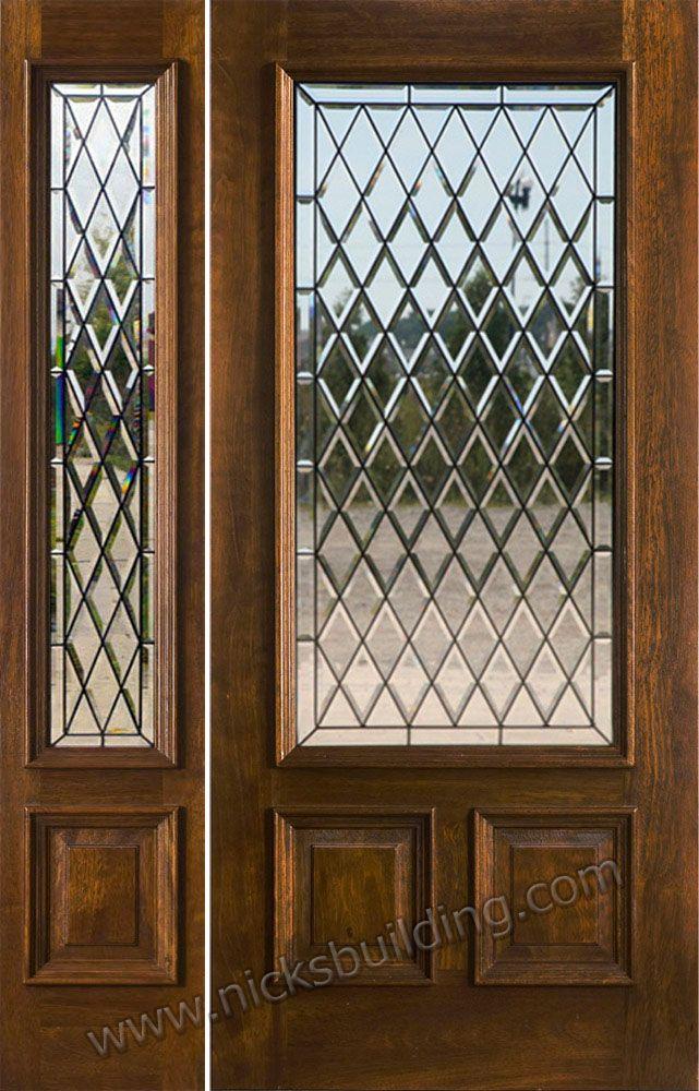 Exterior Entry Doors With 1 Sidelight Solid Mahogany Entry Doors Solid Wood Entry Doors Wood Entry Doors Custom Front Doors