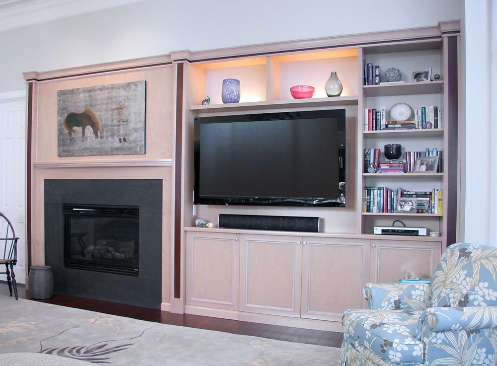 What a great balance of TV space and shelving!