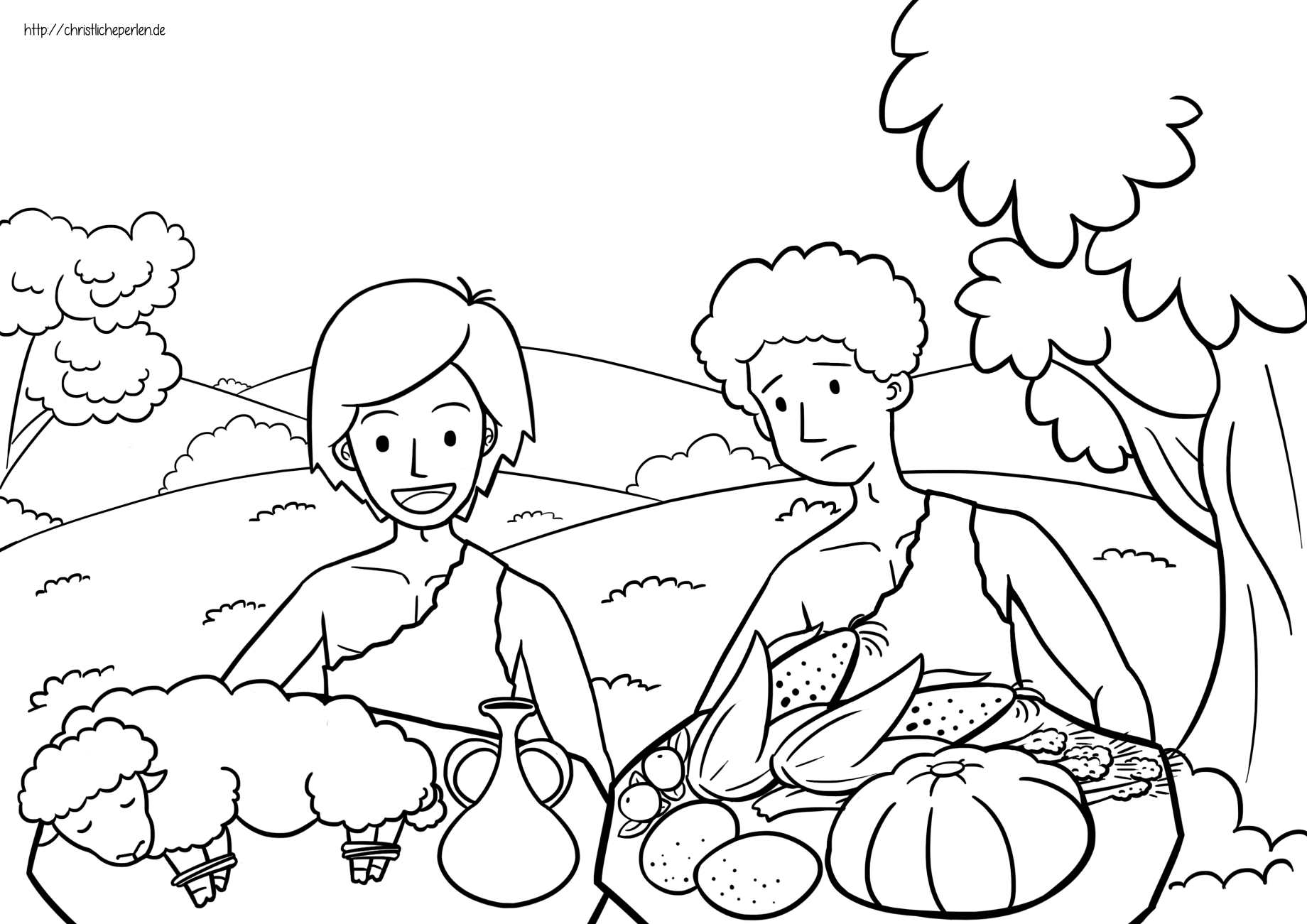 Kain Und Abel Ausmalbilder Ausmalbilder