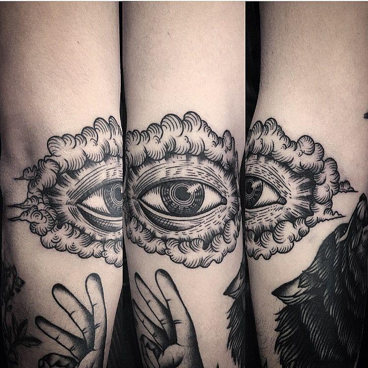 Tattoo by juddbowman eye traditional black blackwork