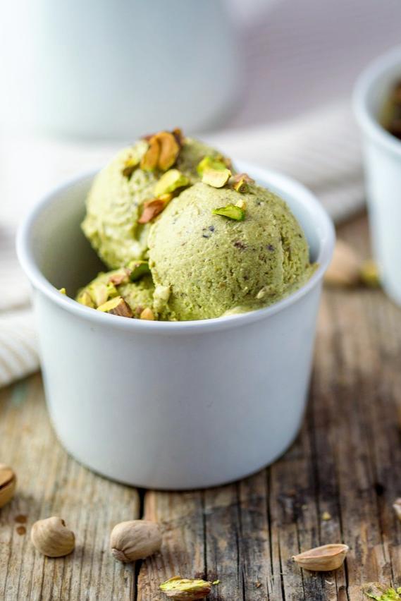 Gelato vegano al pistacchio e avocado! (senza gelatiera) Gelato vegan al  pistacchio e