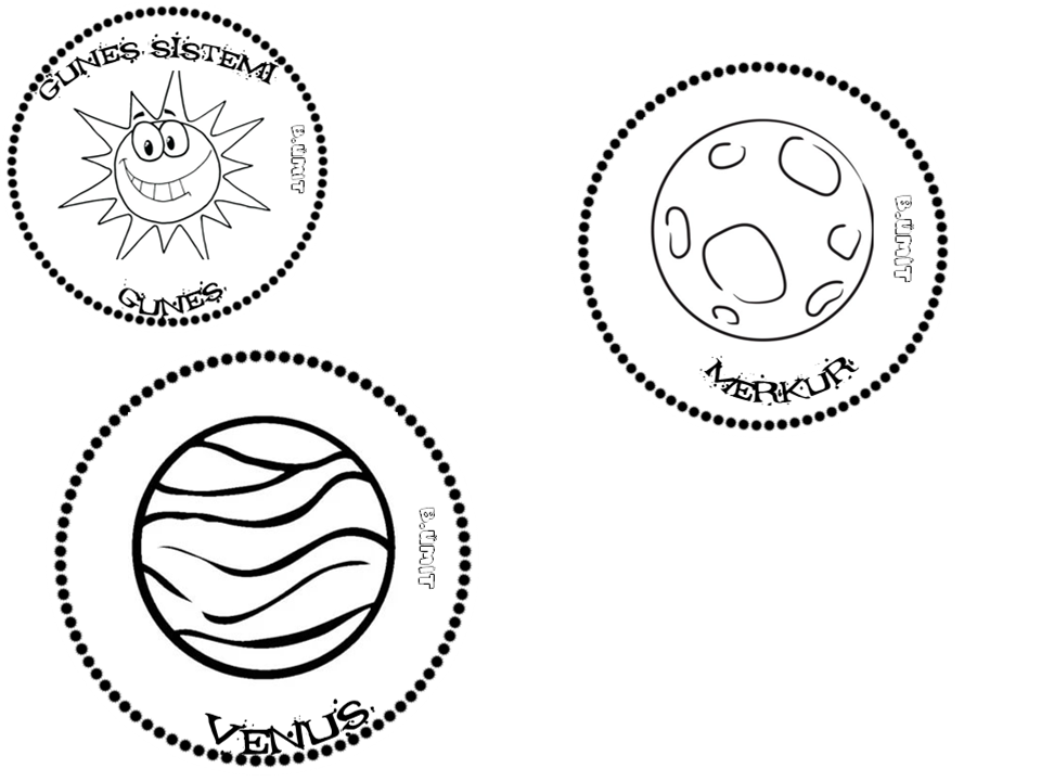 Gunes Sistemi Venus Merkur Gunes Uzayda Yolculuk Boyama