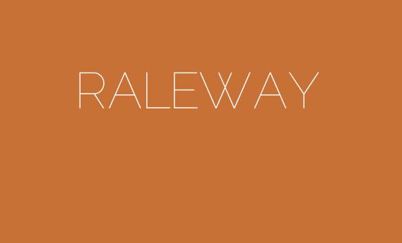 type showcase raleway