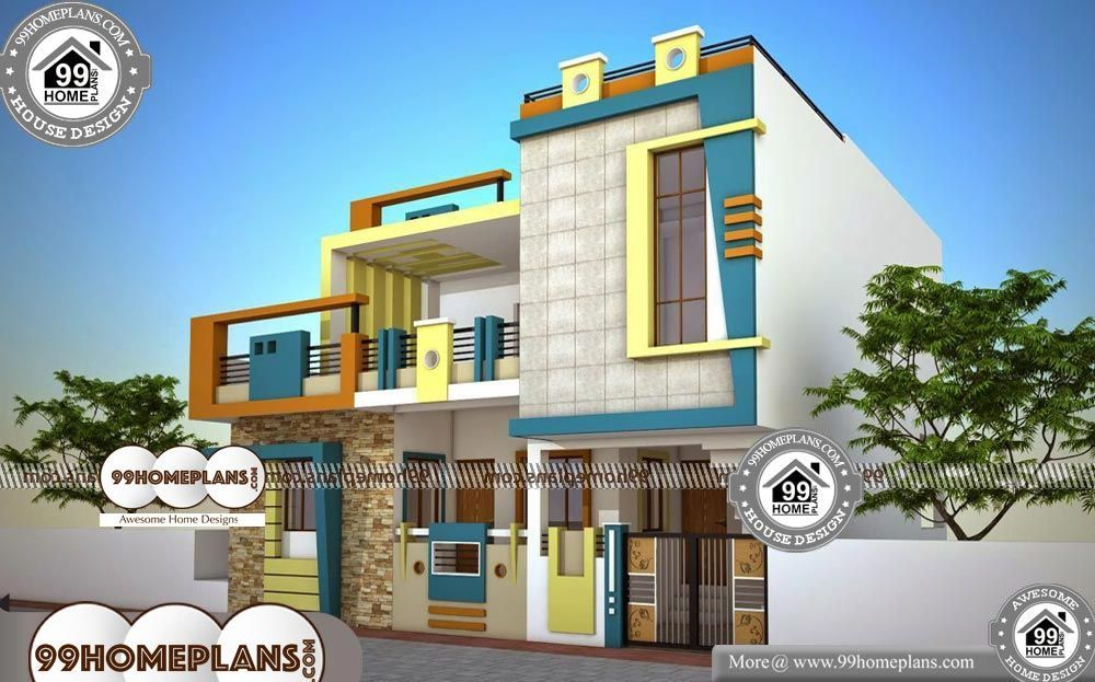 Ground Floor House Plan And Design In 25x46 Ft Plot Her Crochet Small House Elevation Design Contemporary House Exterior Modern House Exterior House designs small blocks