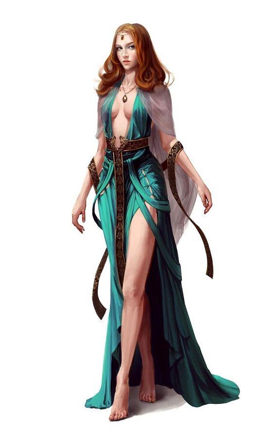 D D Character Design : Human female sorcerer pathfinder pfrpg dnd d