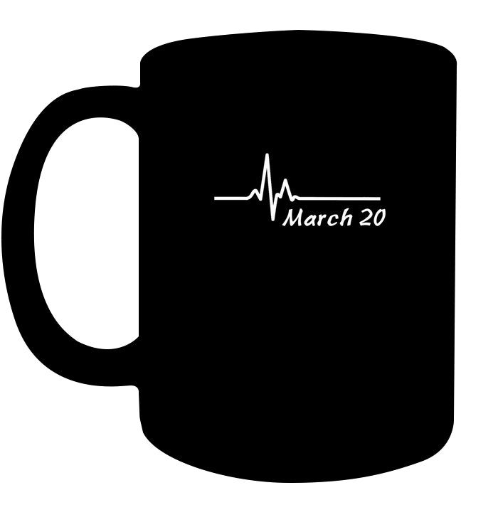 March 20th Anniversary T Shirt Couples Birthday Wedding Gift Coffee Cups Mugs #20thanniversarywedding