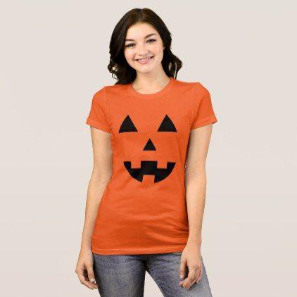 #Halloween pumpkin face T-Shirt - #Halloween happy halloween #festival #party #holiday