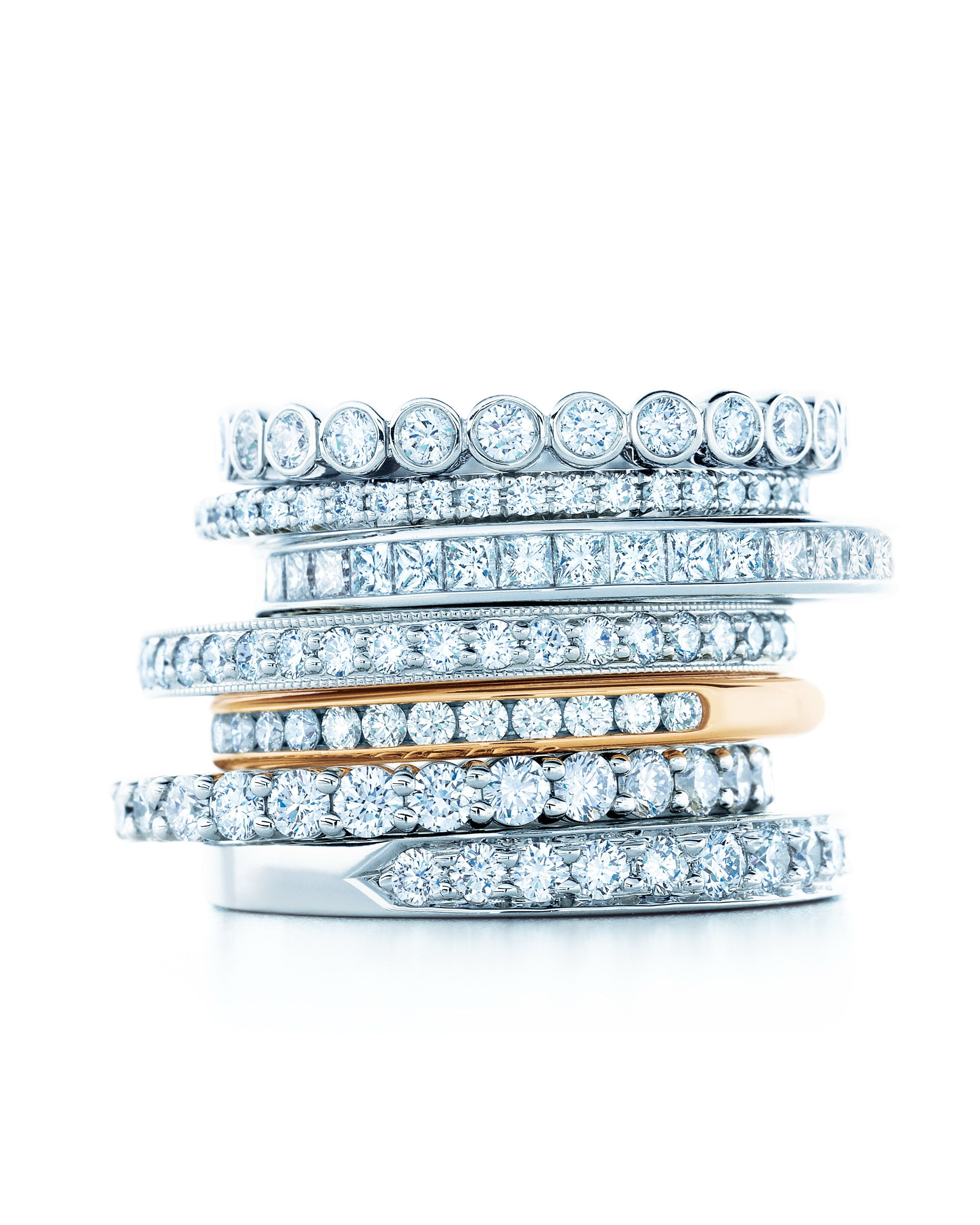 89f9f2a1d219 Tiffany celebration ring stack.