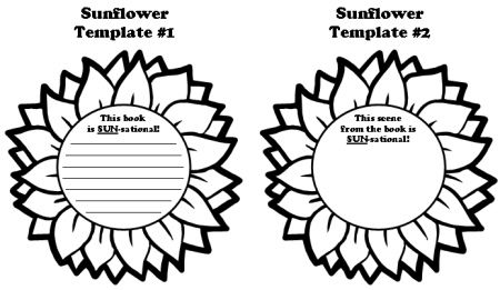 Sunflower Book Report Projects Flower Templates