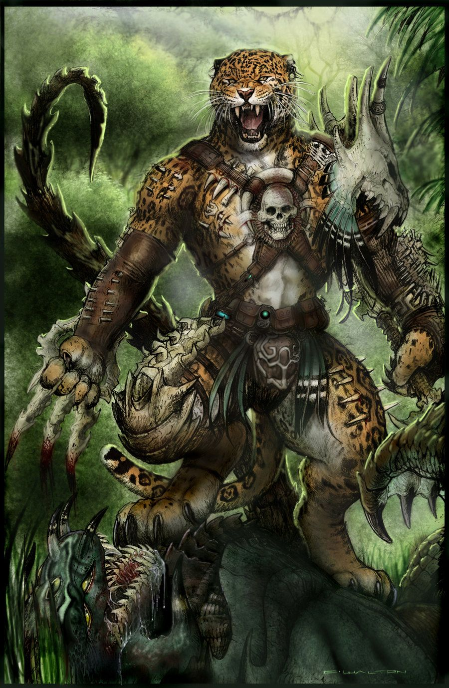 Bone Werejaguar PATH TO APEX by ChuckWalton.deviantart.com ...